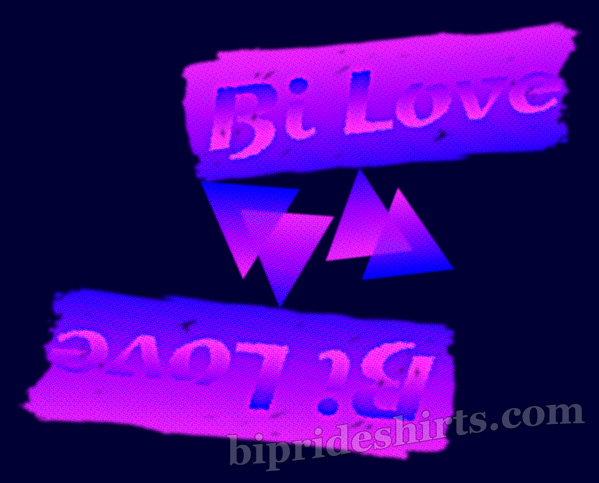 bi love both ways bi pride shirt