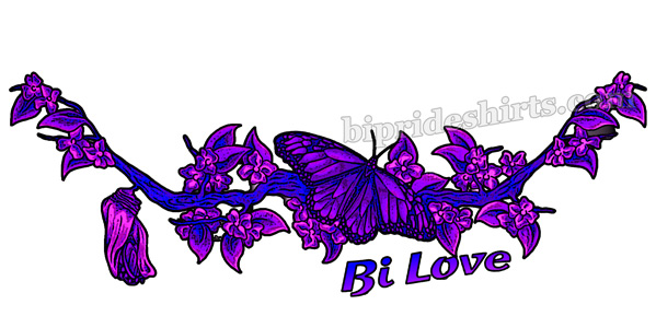 bi love butterfly and cocoon shirt
