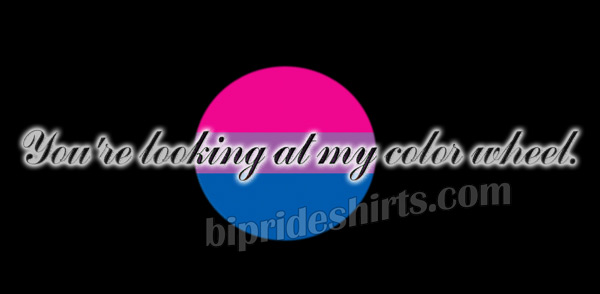 Bisexual color wheel bi pride shirt design