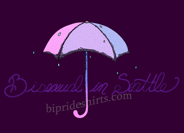 bisexual in Seattle dark Bi Pride T