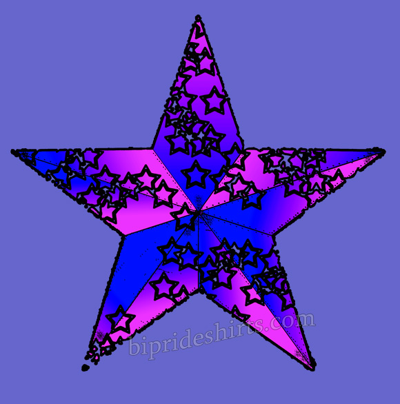 bisexual star shirt