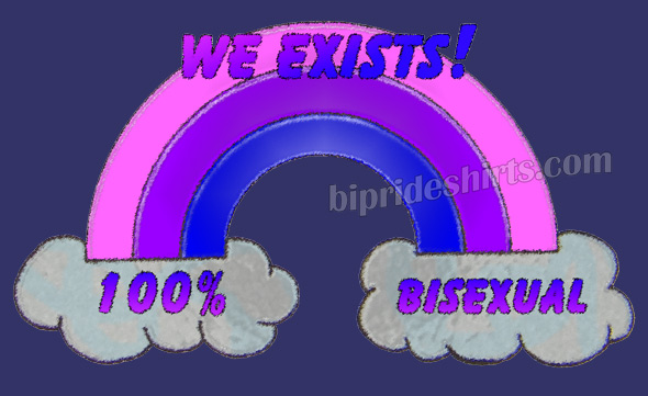 we exist bi pride rainbow