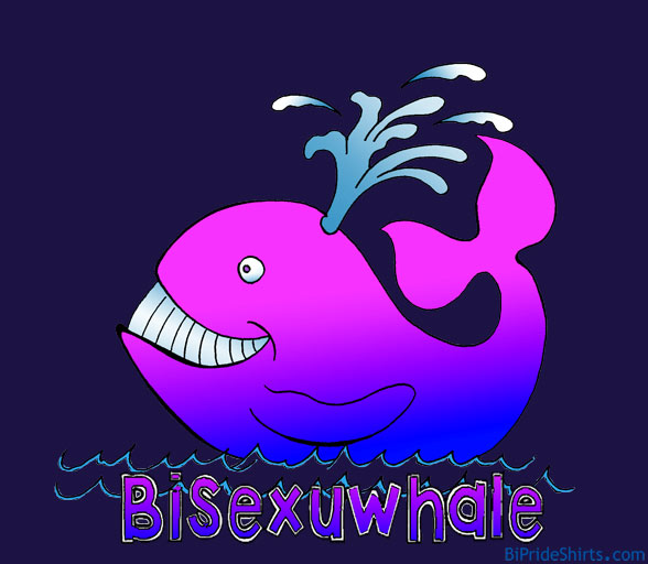 bisexuwhale bisexual whale bi pride and bi visibility t shirt