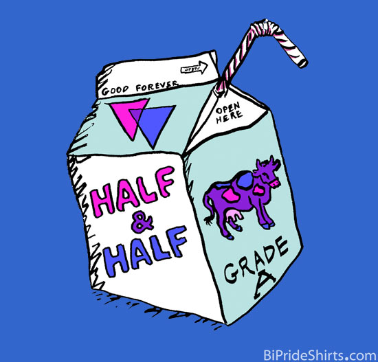 Half and half bi humor shirt