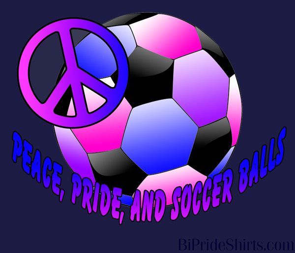 Peace pride and soccer balls bi pride
