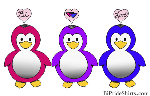 Bi Pride penguins T Shirt