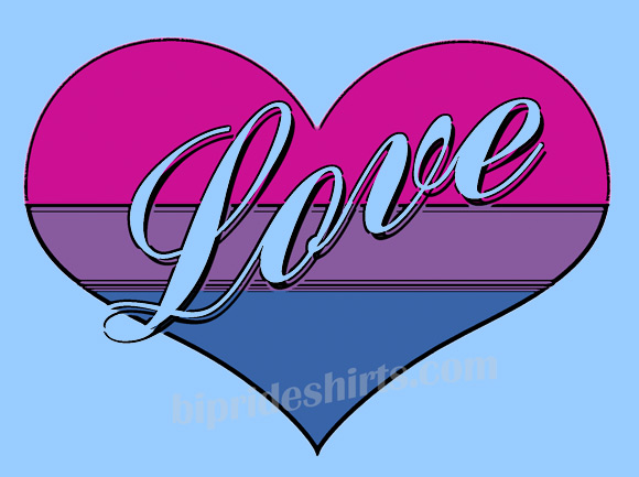 Bi Love Heart Tee Shirt