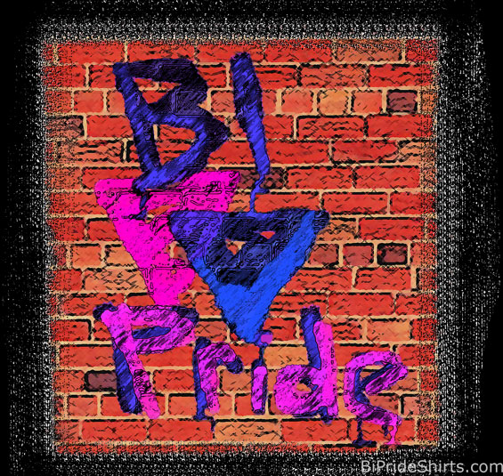 Bi Pride Techno Graffiti Tee Shirt