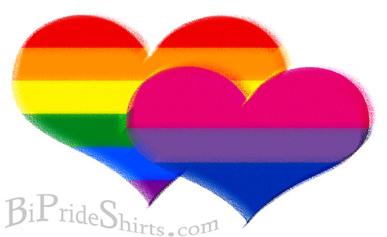 rainbow pastel bi pride and lgbt hearts